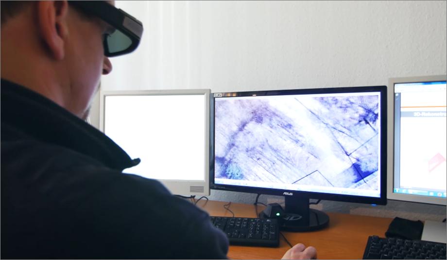 Photogrammetrische 3D-Erfassung für Amtliche Basiskarte und Stadtgrundkarte.
